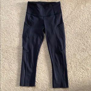 lululemon athletica Pants - lululemon fast and free crop sz 4